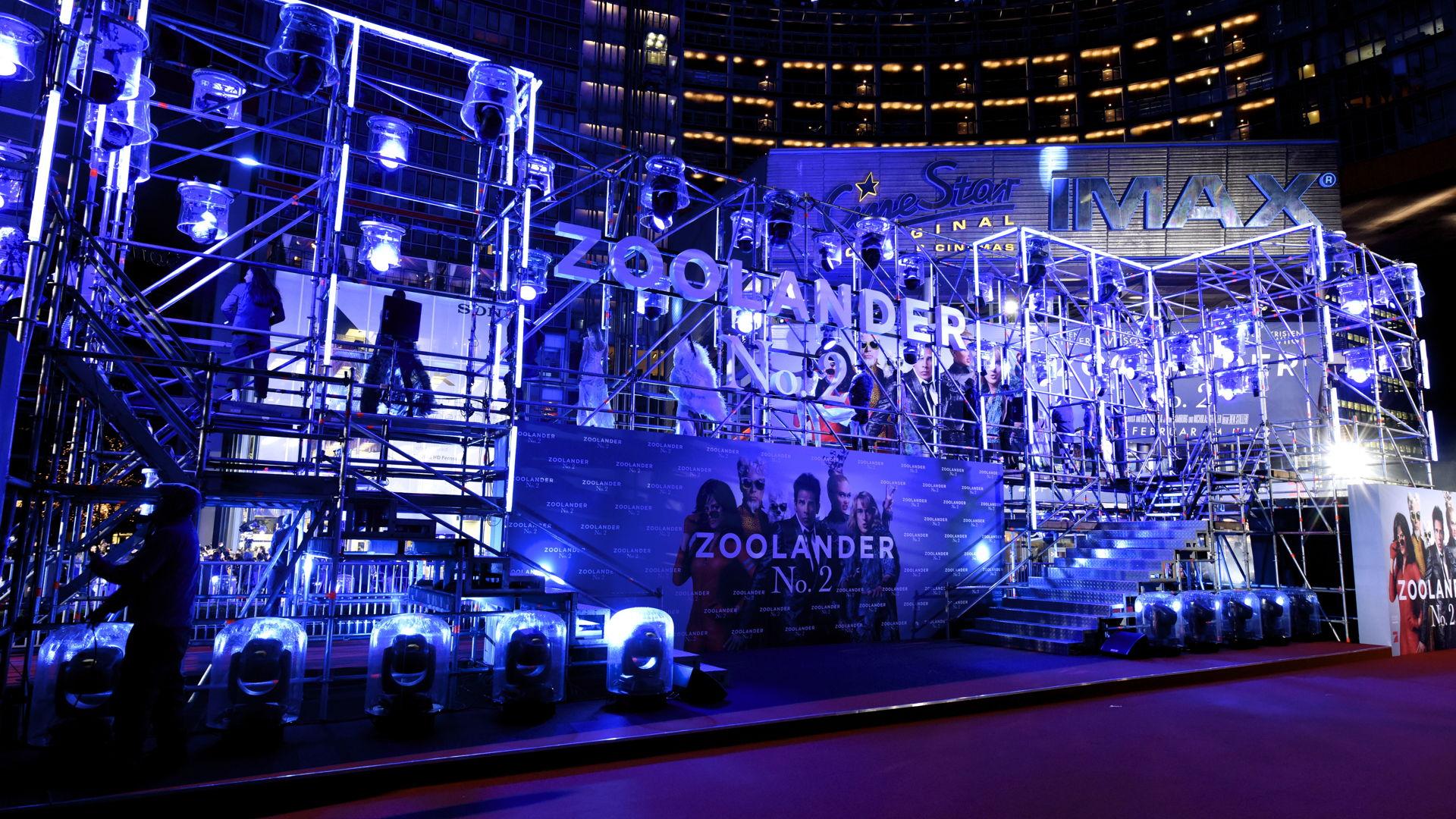Deutschland-Bühne für Zoolander 2 / Showarchitekten, Creative Production, Stuttgart